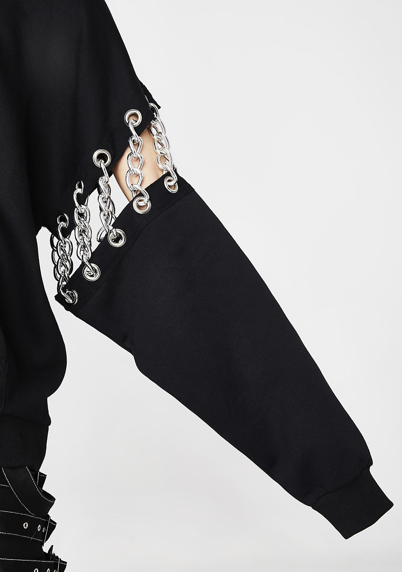 Poster Grl Upper-Hand Chained Hoodie