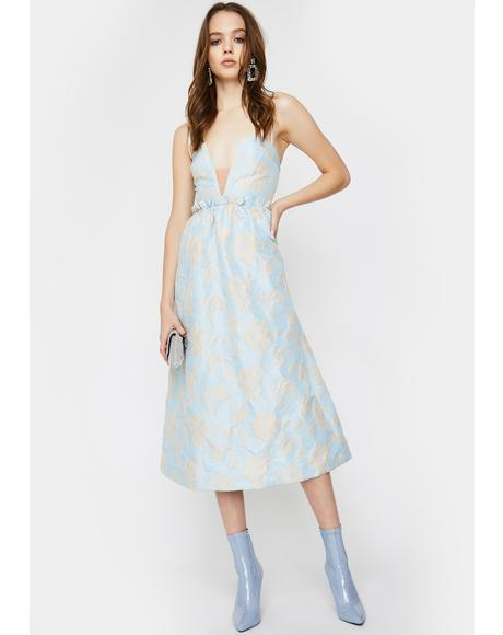 Reese Jacquard Midi Dress