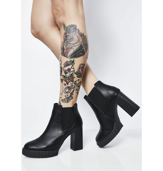Everlasting Sorrow Heeled Booties