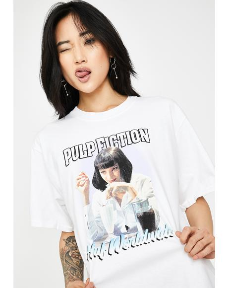x Pulp Fiction Mia Airbrush Graphic Tee