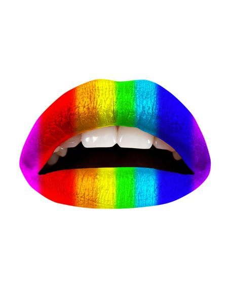 Rainbow Lip Applique