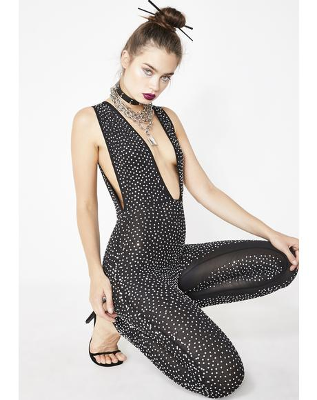 Hypnotic Shine Embellished Catsuit