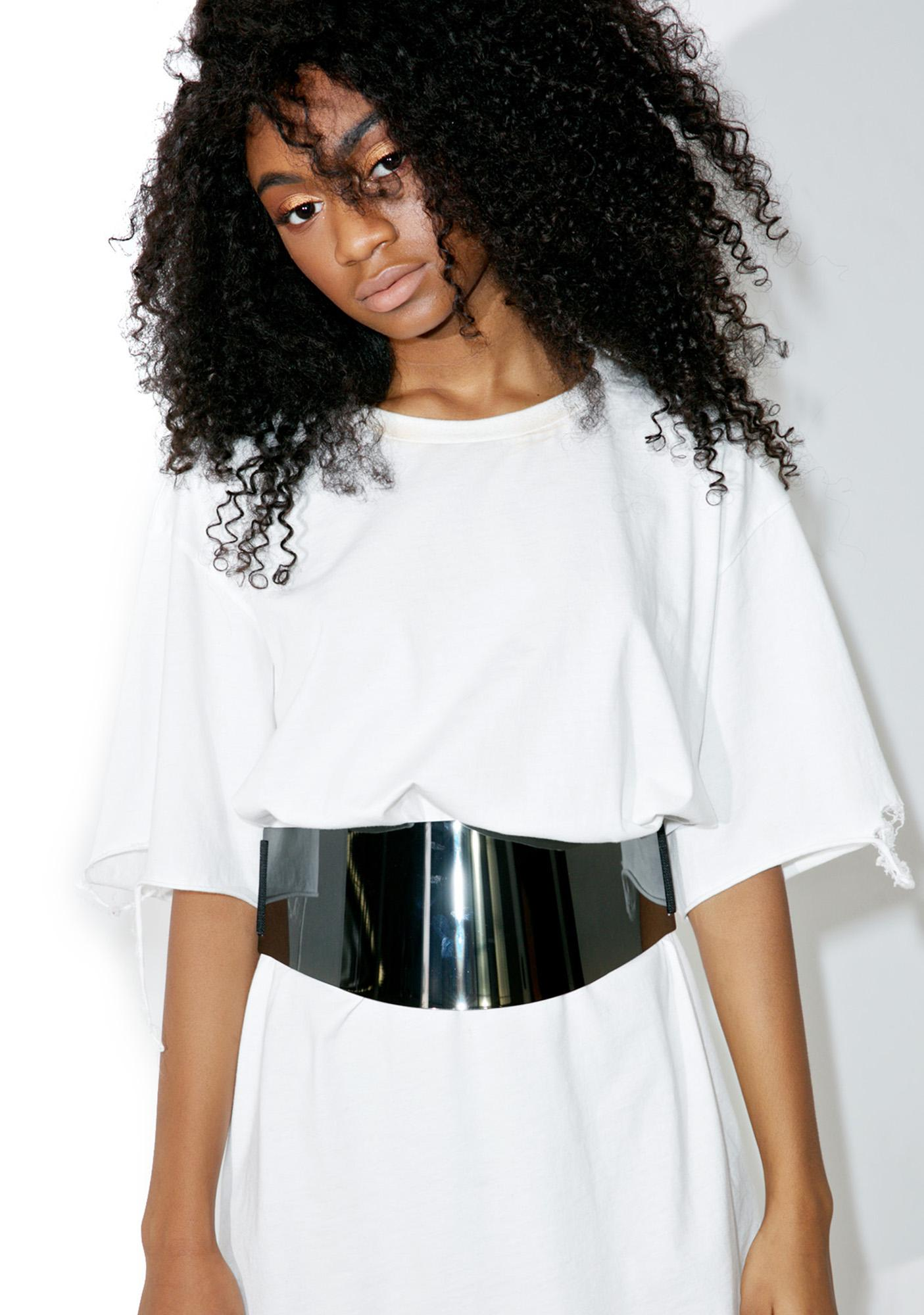Ahead Of The Curve Plated Belt