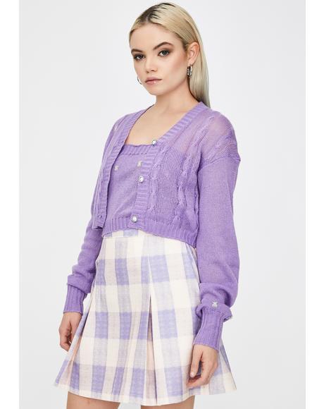 Pastel Gingham Skirt