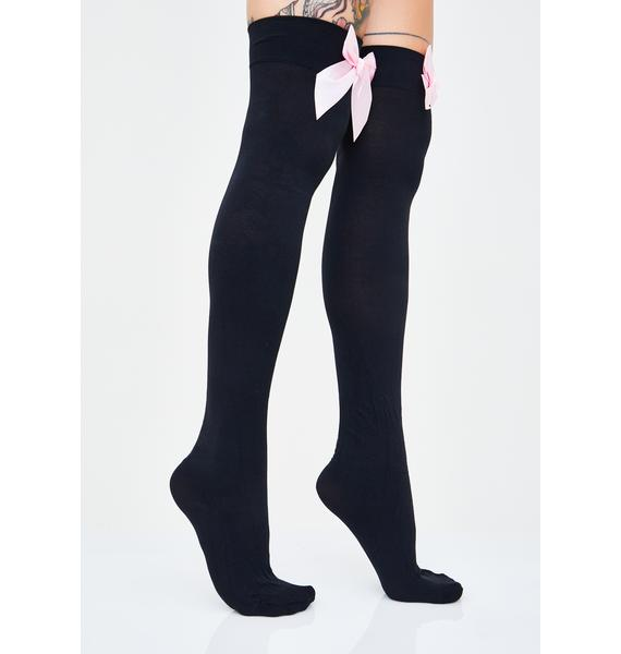 Moon Star Thigh High Socks