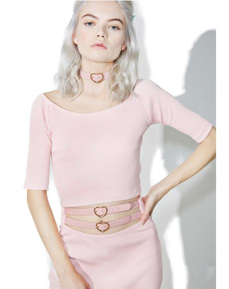 Candy Heart Choker Top