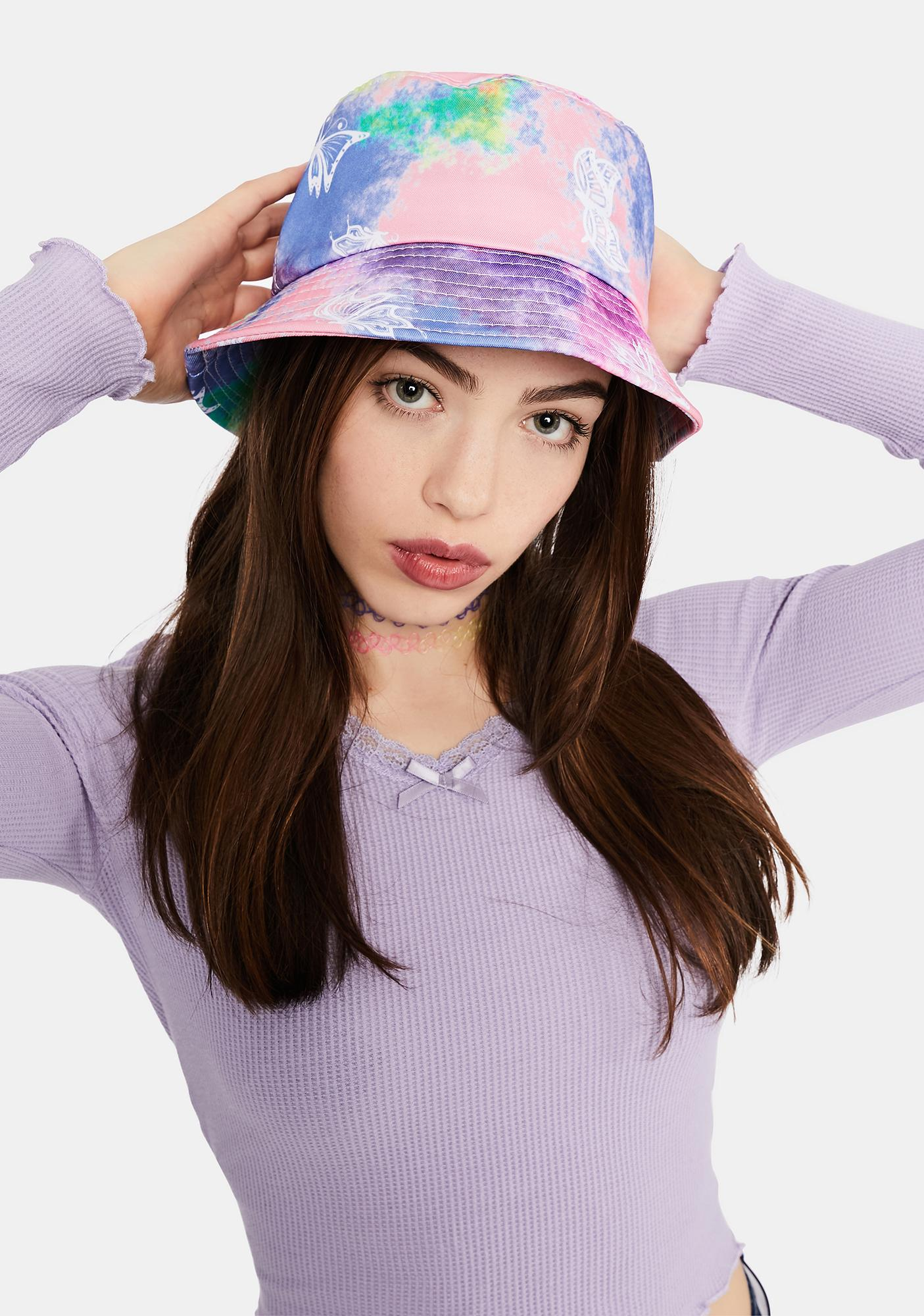 Welcome To Paradise Tie Dye Bucket Hat