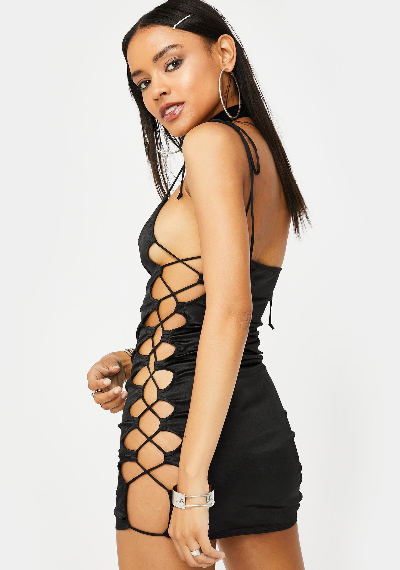 Motel Laticia Lace-Up Dress