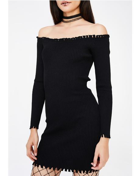 Man Down Off Shoulder Dress