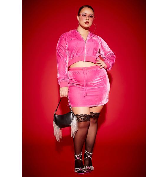 Poster Grl Miss Kissed A Girl Velour Skirt Set