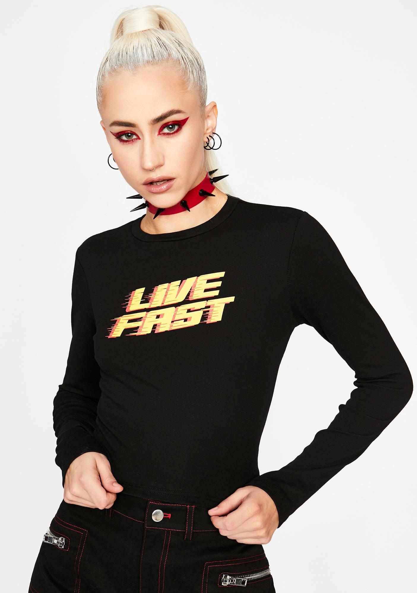 HOROSCOPEZ Fast Lane Life Graphic Tee