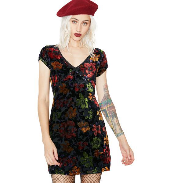 Autumn Daze Velvet Dress