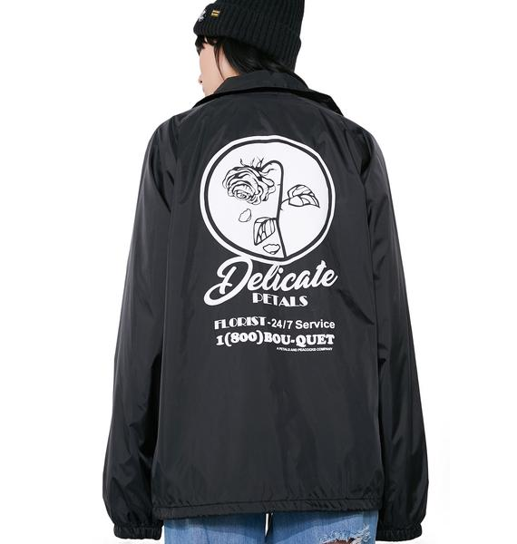 Petals and Peacocks Delicate Coach Jacket