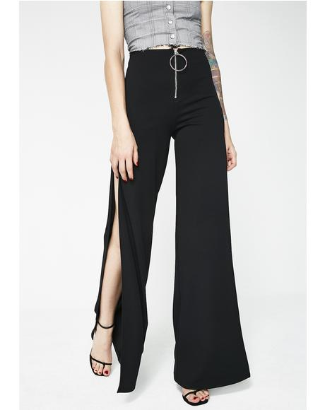 Dark Servin' All Day Slit Trousers
