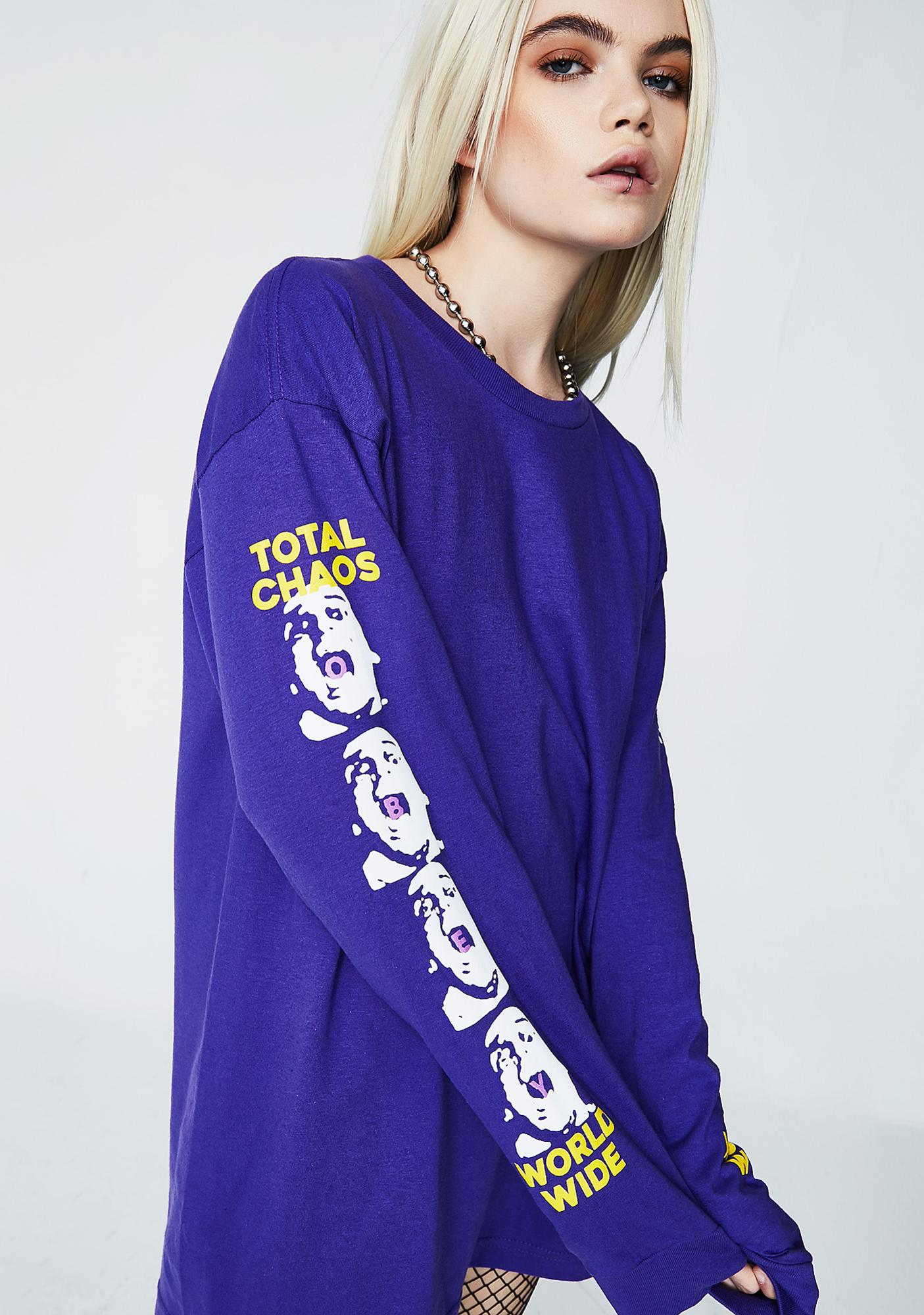 Obey Total Chaos Long Sleeve Tee
