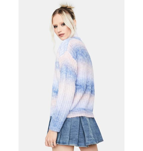 Lover Girl Ombre Striped Sweater