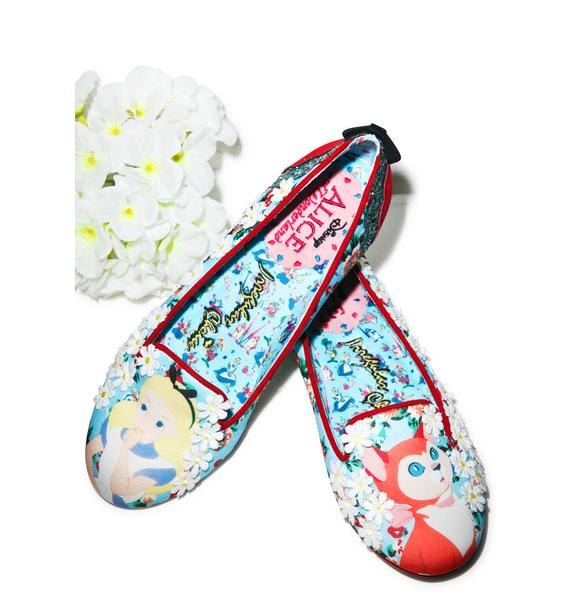 Irregular Choice Curiouser Alice Flat