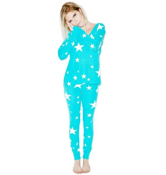 Wildfox Couture Disco Star Beach Camping Pajama Set