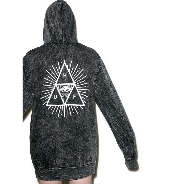 HUF Third Eye Acid Wash Pullover Hoodie