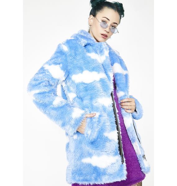 Current Mood Daydream Delirium Faux Fur Jacket