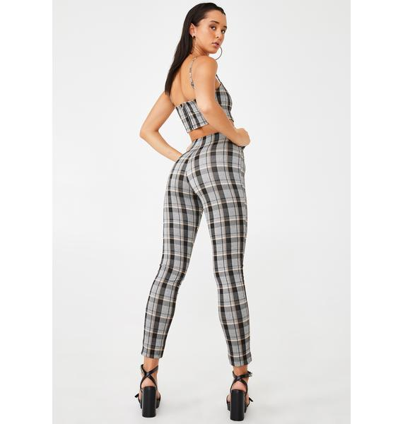Tiger Mist Neutral Check Pearl Pants