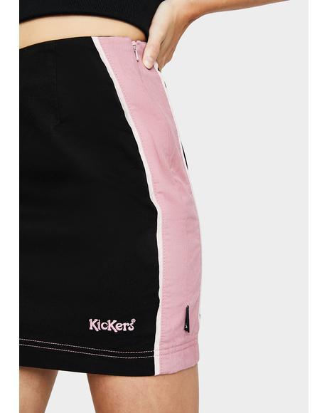 Side Seam Panel Mini Skirt