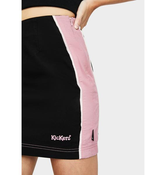 Kickers Side Seam Panel Mini Skirt