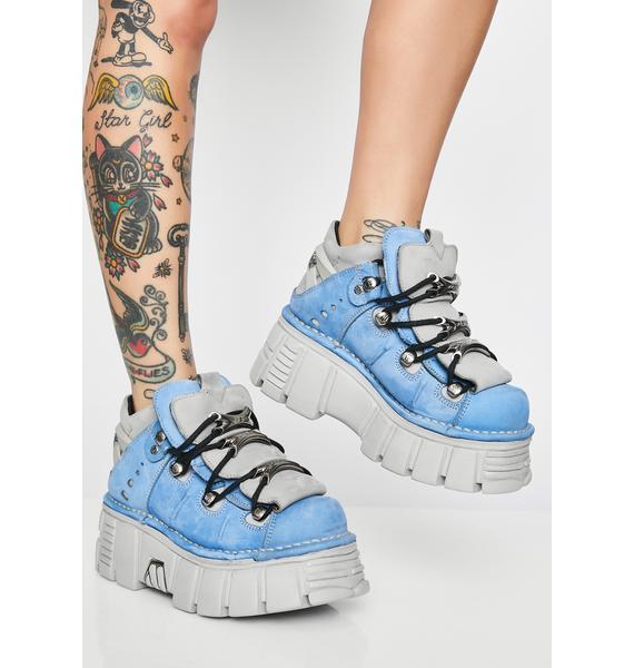 New Rock Nobukc Celeste Platform Sneakers