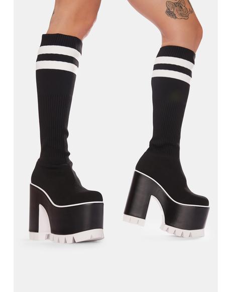 Campus Cutie Sock Platform Boots