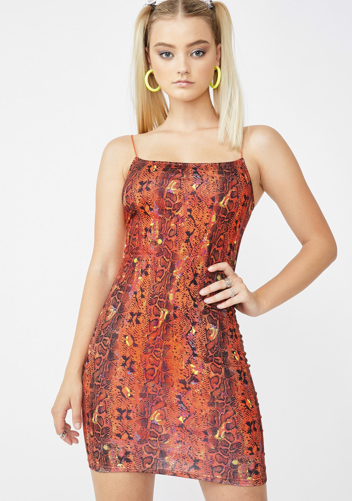 Elsie & Fred Sacramento Snake Print Mini Dress