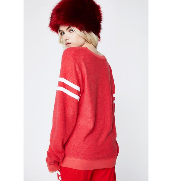 Wildfox Couture Whatever Sport Baggy Beach Jumper