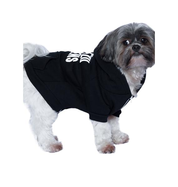 Petals and Peacocks Shit-Tzu Happens Dog Hoodie
