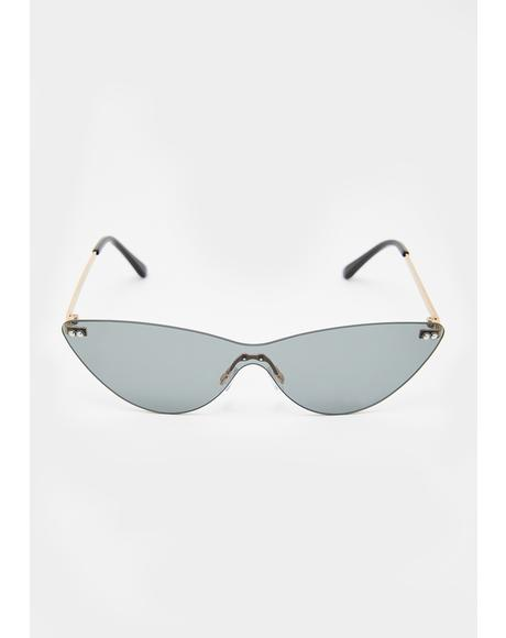 Shooting Daggers Cat Eye Sunglasses