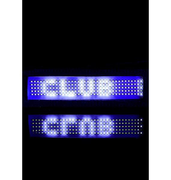 Club Exx Chrome Beamed Up Baddie Light-Up Choker