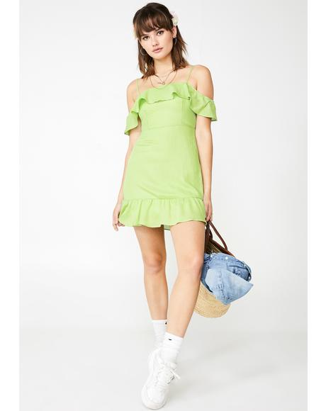 Lush Say ILY Ruffled Dress
