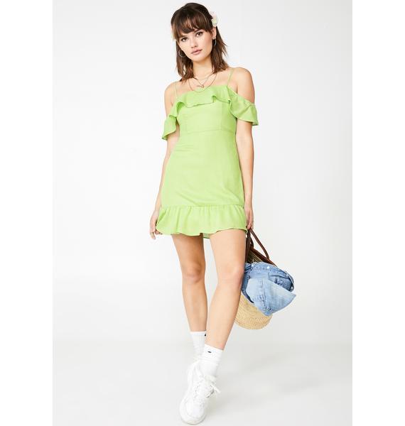 Lush Say ILY Ruffled Dress