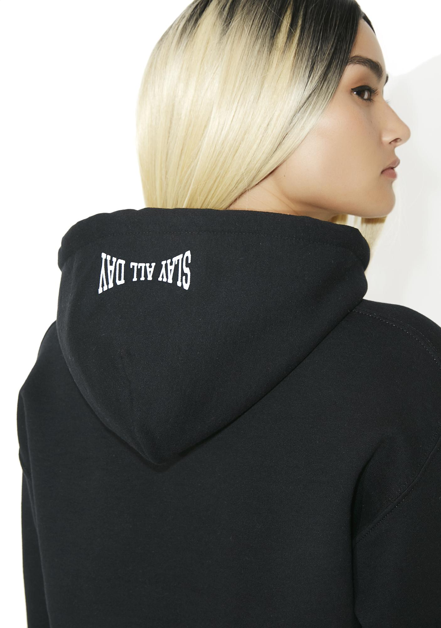 Civil Clothing Slay All Day Cropped Hoodie