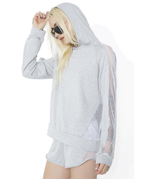 Taking Over Mesh Panel Hoodie