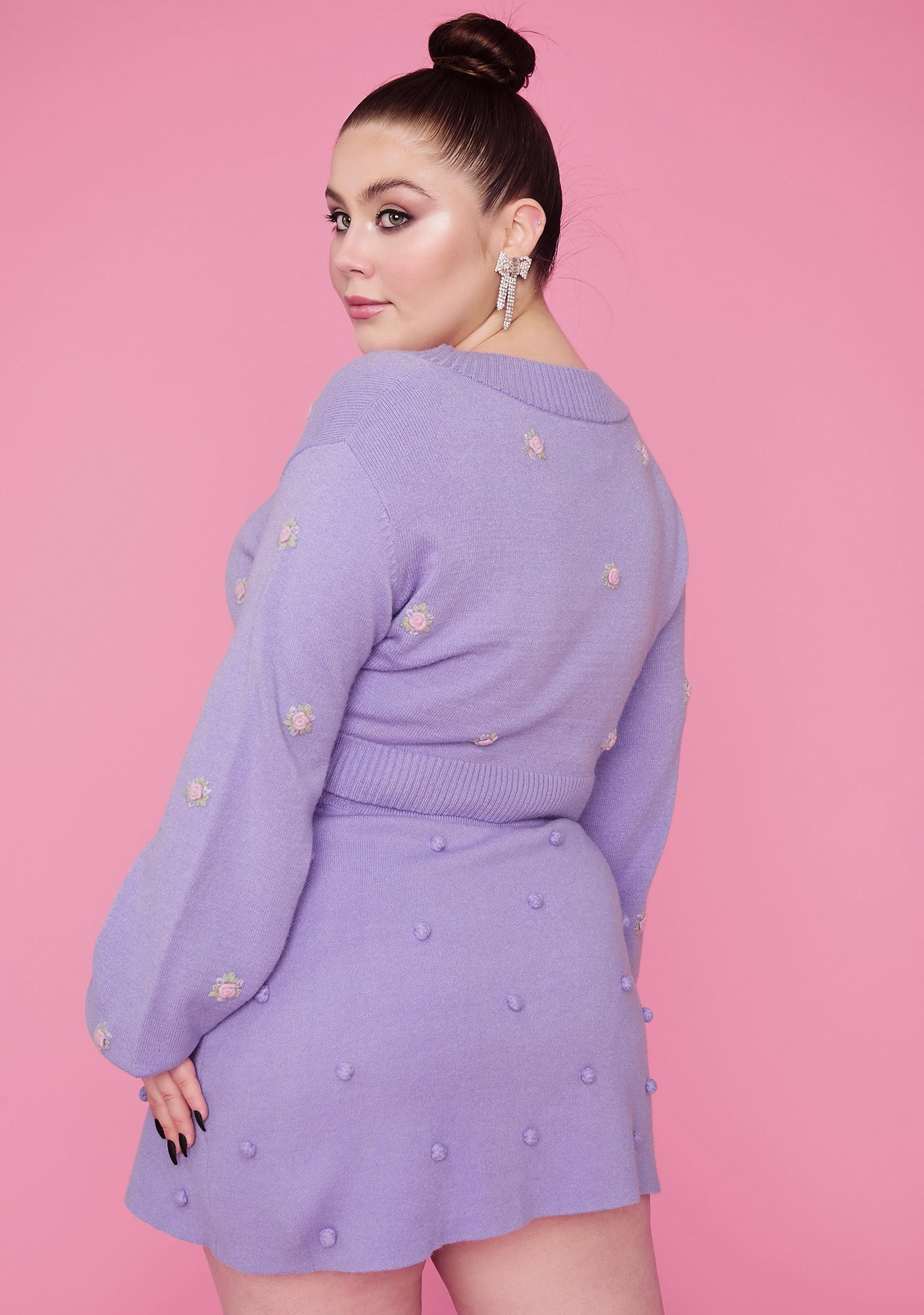 Sugar Thrillz Bb Dance With Me Pom Pom Sweater Skirt