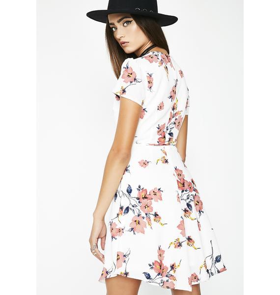 Glamorous Fresh Picked Flowers Wrap Dress
