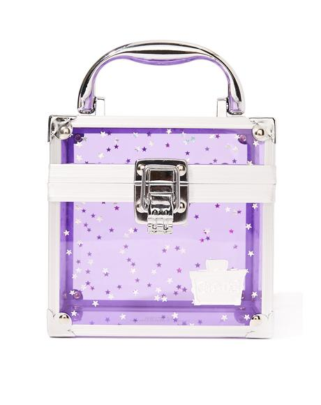 Purple Oh La La Clear Makeup Case