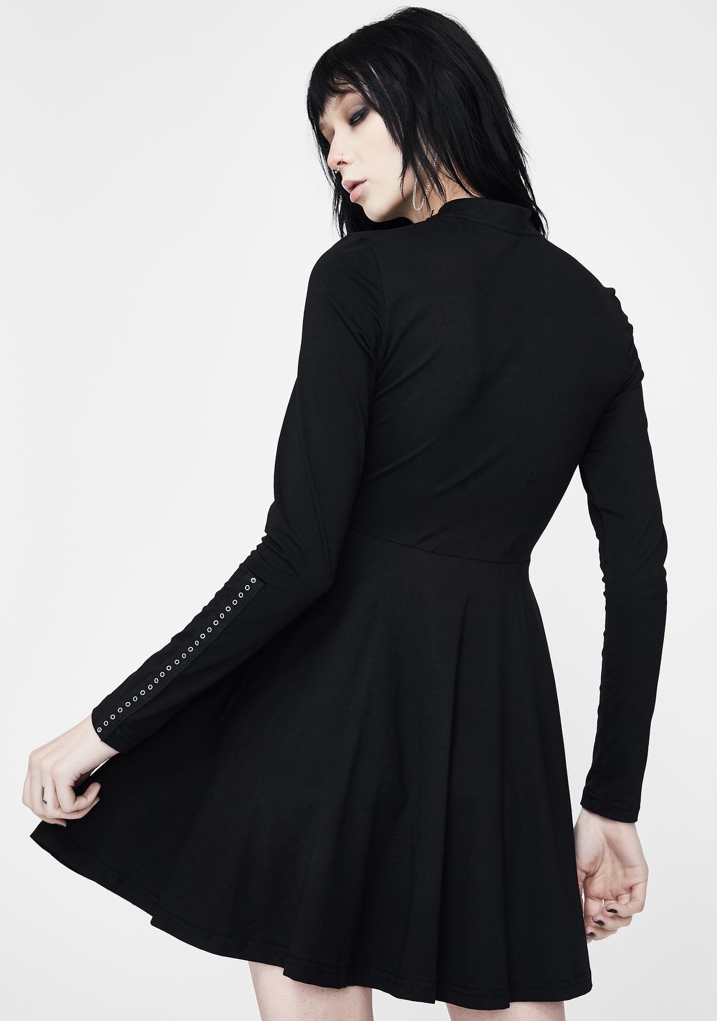 Punk Rave Zip Collar Knit Dress