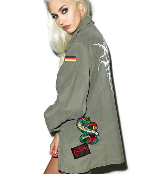 Hazmat Design Fuck It Military Jacket