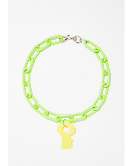 Plastic BB Key Necklace