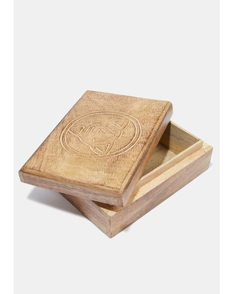 Wooden Tarot Card Box