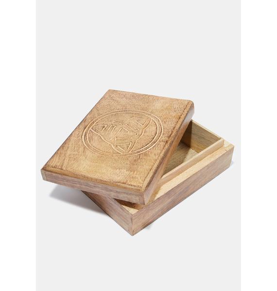 Wooden Tarot Card Box