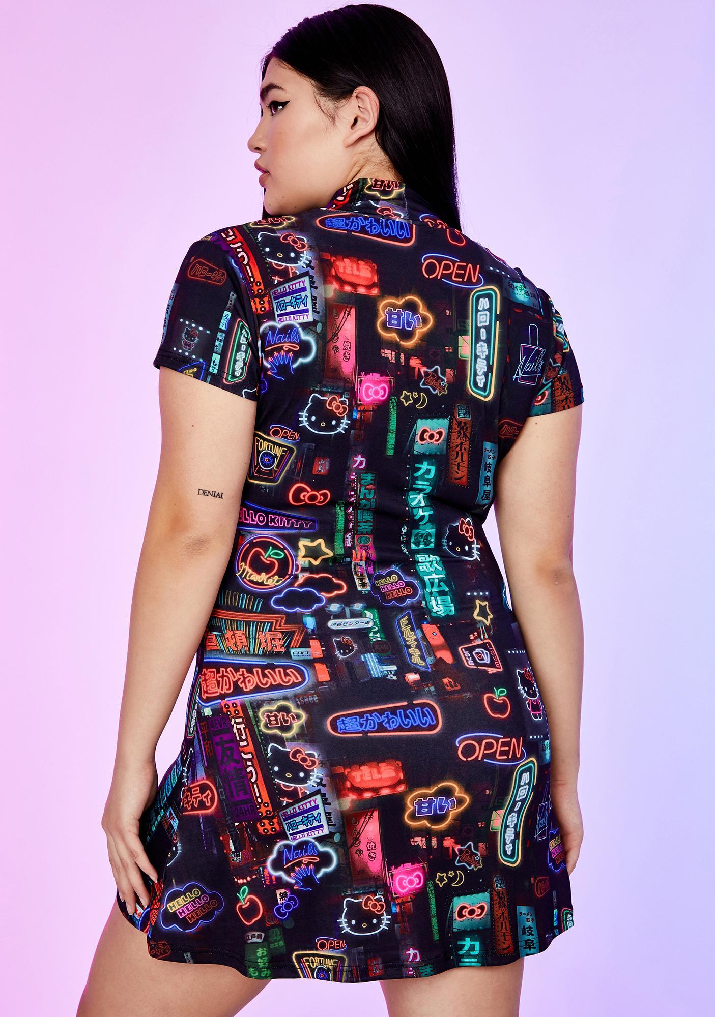 Dolls Kill x Hello Kitty Perfect Pixel City Mini Dress