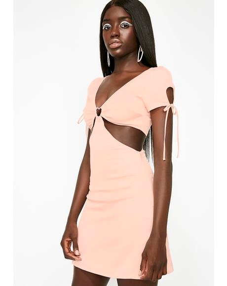 Peachy Popsicle Cut Out Dress