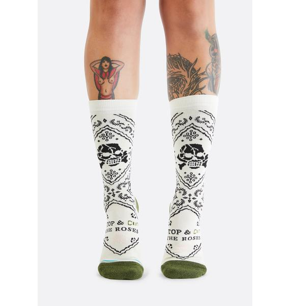 Stance Cut The Roses Crew Socks