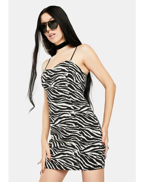 Zebra Lyla Mini Dress